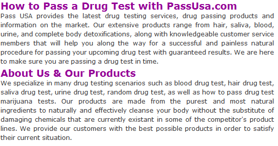 how to pass a drug test
